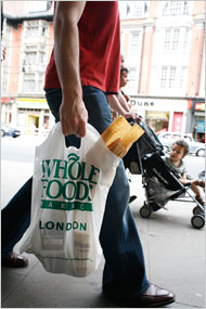 talking my way out of a Whole Foods paper bag
